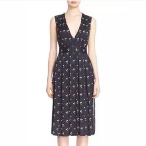 Victoria Beckham Daisy Pin-tucked Pleated Dress